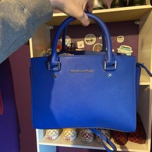 Blue Michael Kors Selma bag